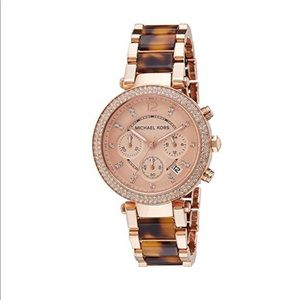 Michael Kors Parker two toned chronograph watch